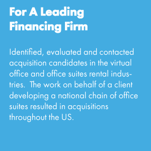 For a Leading Financing Firm